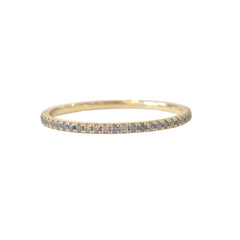 14K Gold Micro Pavé Denim Blue Sapphire Full Eternity Band
