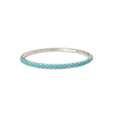 14K Gold Micro Pavé Turquoise Gemstone Full Eternity Band