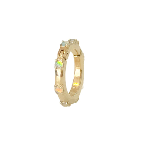14K Gold Opal Round Charm Enhancer