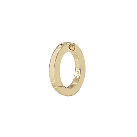 14K Gold Oval Charm Enhancer