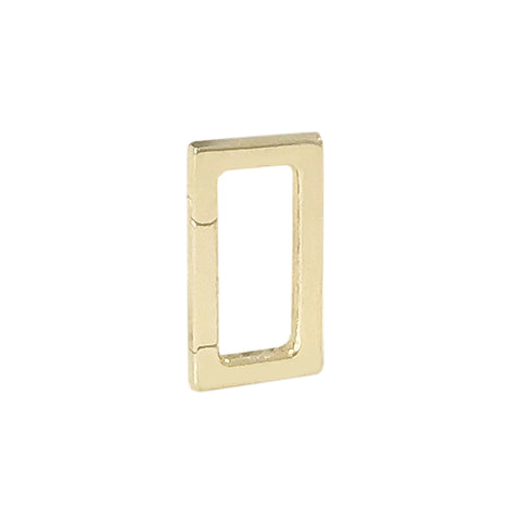 14K Gold Rectangle Charm Enhancer