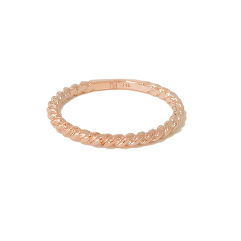 14K Gold Braided Rope Band Eternity Ring