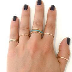 14K Gold Braided Rope Band Eternity Ring ~ In Stock!