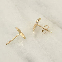 14K Gold Star Stud Earrings ~ Small Size
