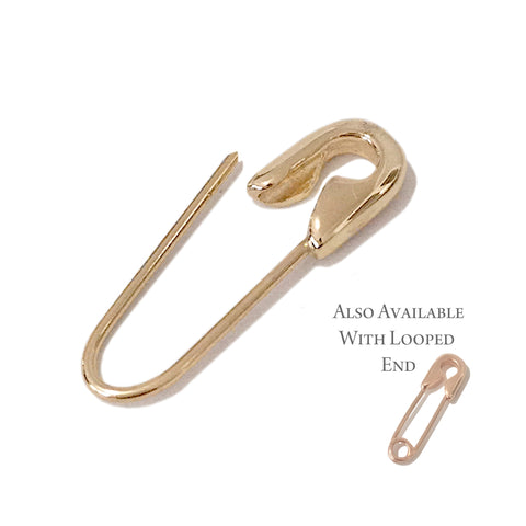 14K Gold Small Size Safety Pin Brooch