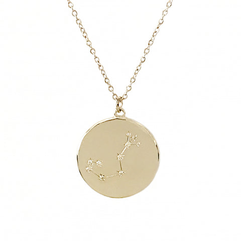 Zodiac Constellation Collection: Scorpio 14K Gold & Diamond Pendant Necklace