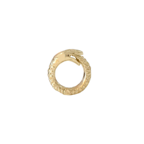 14K Gold Snake Charm Enhancer ~ Small Size, In Stock!
