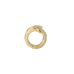 14K Gold Ouroboros Snake Charm Enhancer ~ Small Size
