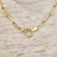14K Gold Ouroboros Snake Charm Enhancer ~ Small Size, In Stock!
