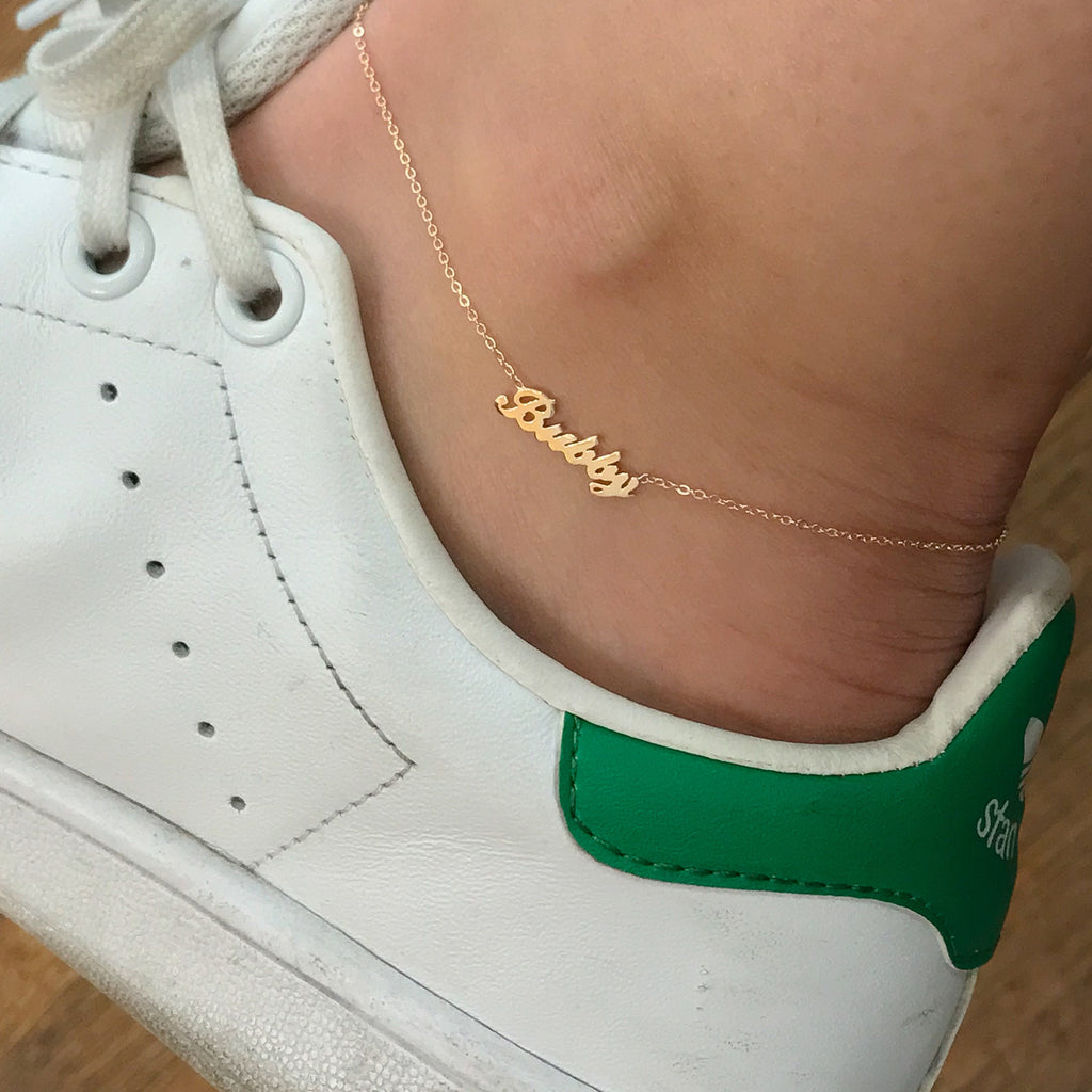 miami is real bracelet s anklet cuban curb image ankle solid gold itm link yellow loading