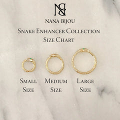 14K Gold Ouroboros Snake Charm Enhancer ~ Large Size, In Stock!