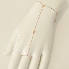 14K Gold Double Star Finger Bracelet