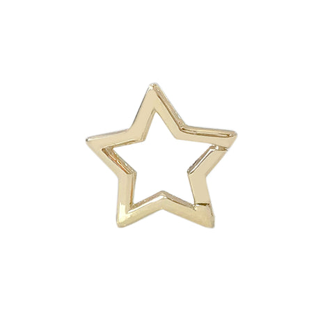 14K Gold Star Charm Enhancer