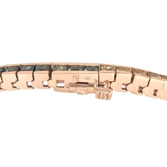 14K Gold Rainbow Sapphire Channel Set Tennis Bracelet