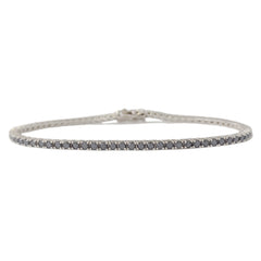14K Gold Black Diamond Tennis Bracelet