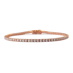 14K Gold & Pavé Diamond Tennis Bracelet