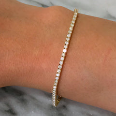 14K Gold & Diamond Tennis Bracelet