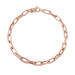 14K Gold Thick Oval Link Bracelet ~ Small Links, In Stock!