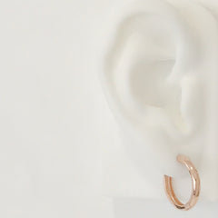 14K Gold XXL Size (19mm) Thick Hoop Earrings