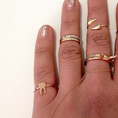 14K Gold Tooth Ring