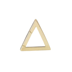 14K Gold Triangle Charm Enhancer