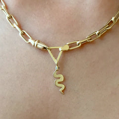 14K Gold Triangle Charm Enhancer ~ In Stock!