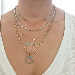 14K Gold Diamond Tennis Necklace ~ In Stock!