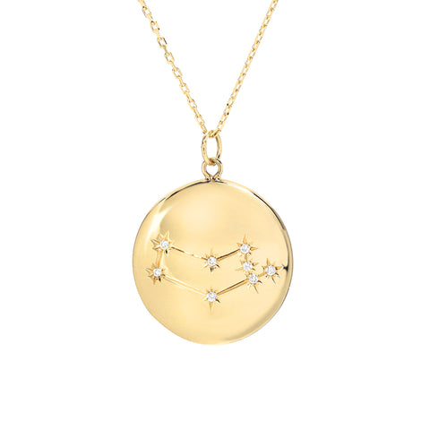Zodiac Constellation Collection: Virgo 14K Gold & Diamond Pendant Necklace