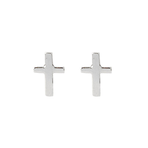 14K Gold XS Cross Scew Back Stud Earrings ~ In Stock!
