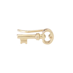 14K Gold XS Key Stud Earring