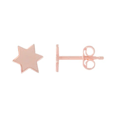14K Gold XS Star of David Stud Earrings