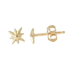14K Gold XS Starburst Stud Earrings