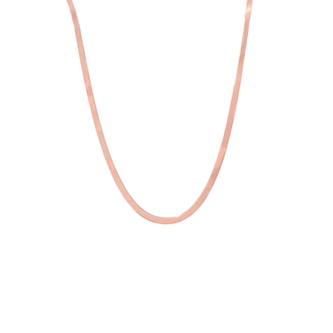 14K Gold Herringbone Chain Necklace, 2.3mm Width ~ In Stock!