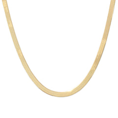 14K Gold Herringbone Chain Necklace ~ 4mm Width