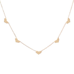 14K Gold Sweetheart 5 Charm Necklace