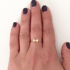 14K Gold Bowtie Ring