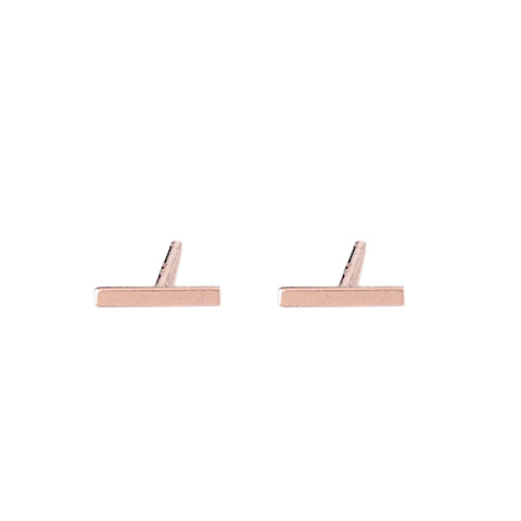 14K Gold XS Bar Stud Earrings ~ In Stock!