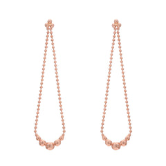 14K Gold Trinity Ball Chain Dangle Swing Earrings ~ In Stock!