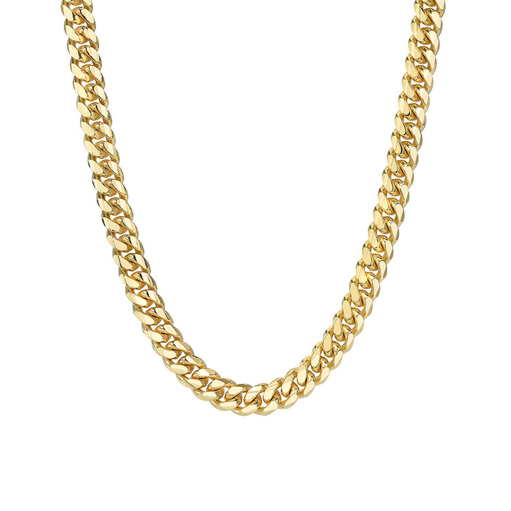 14K Gold Miami Cuban Link Chain Necklace, 5mm Size