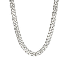14K Gold Flat Cuban Link Chain Necklace, 6mm Size
