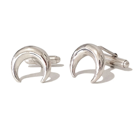 Sterling Silver Double Horn Cufflinks