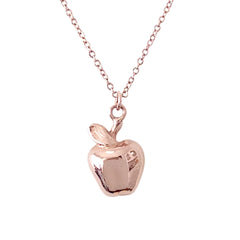 14K Golden Apple Pendant Necklace