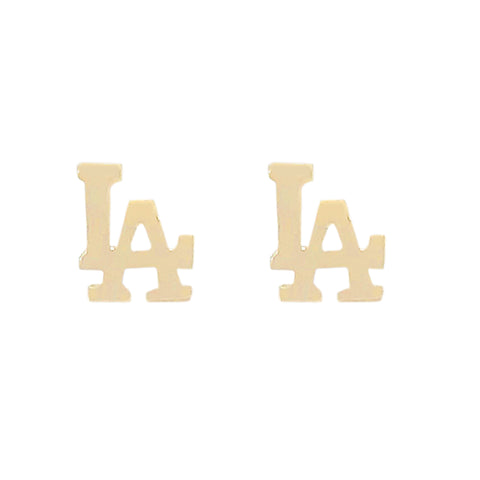 "14K Gold ""LA"" Initials Stud Earring ~ In Stock!"
