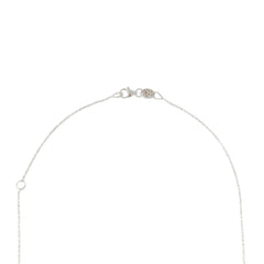 14K Gold & Pavé Diamond Double Bar Lariat Drop Necklace