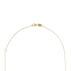 14K Gold Swivel Snake with Black Diamond Eyes Necklace