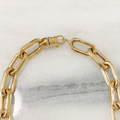 14K Gold Triple Rope Detail Thick Oval Link Necklace, LIMITED EDITION ~ In Stock!