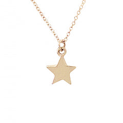 14K Gold Small Star Necklace (Engravable)