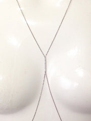 14K Gold & Pavé Diamond Bar Body Chain Harness