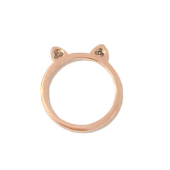 14K Gold & Pavé Black Diamond Kitty Ring