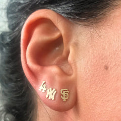 "14K Gold ""NY"" Initials Stud Earring ~ In Stock!"